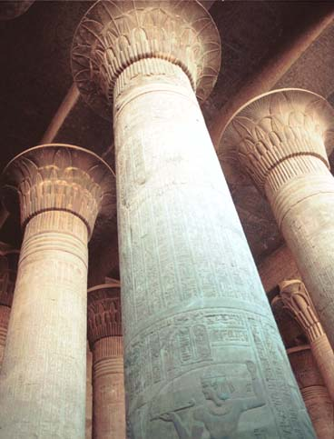Pillars at Abu Simbel